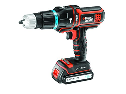 Black and Decker MT188KB - Taladro percutor Multievo con maletín y dos baterías (27 W, 18 V)