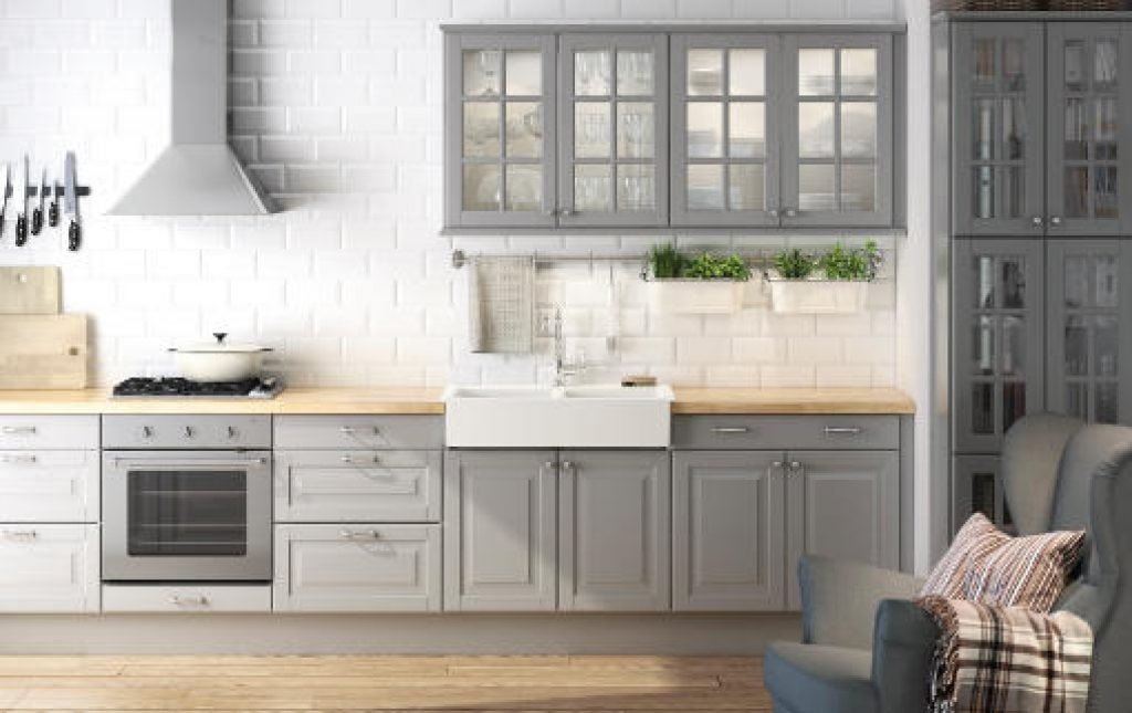 Ideas para decorar cocinas grises - Ideas con muebles de ikea ...
