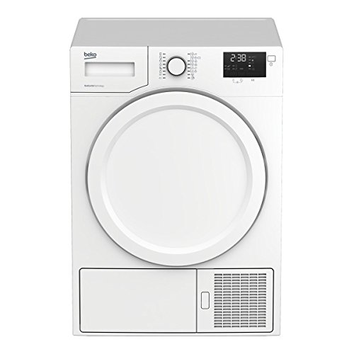 Beko DE8333PA0 Independiente Carga frontal 8kg A+ Color blanco - Secadora (Independiente, Carga frontal, Bomba de calor, Color blanco, Giratorio, Izquierda)