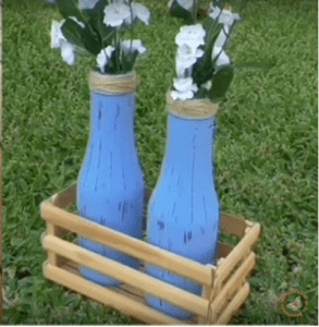 botellas de vidrio decoradas