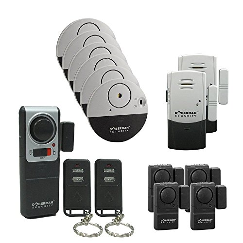 Top-Guard Doberman security Kit de 13 Doberman alarmas de Seguridad seguridad para casa y oficina-Puerta Ventana Alarma
